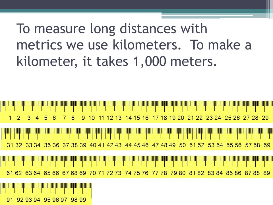 How Long Is A Meter : Measuring length mm cm m km ppt video online download