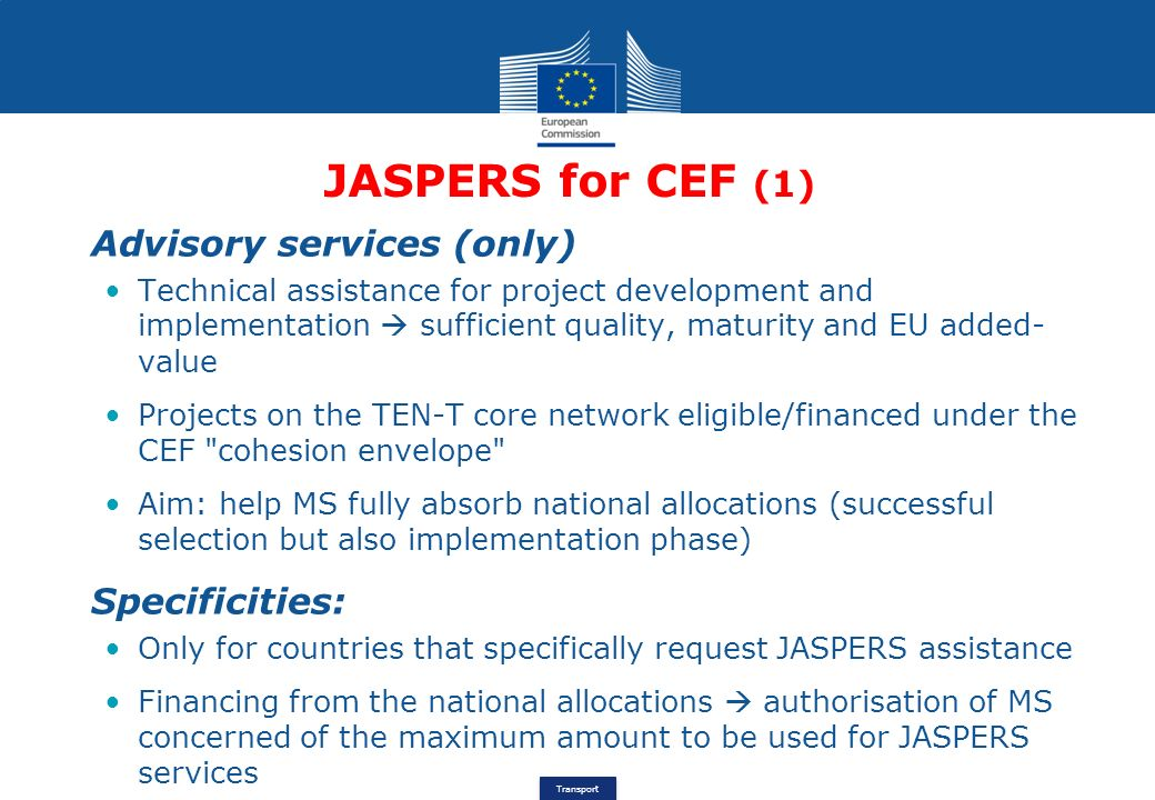 JASPERS for CEF Stéphane OUAKI Head Of Unit - ppt video ...