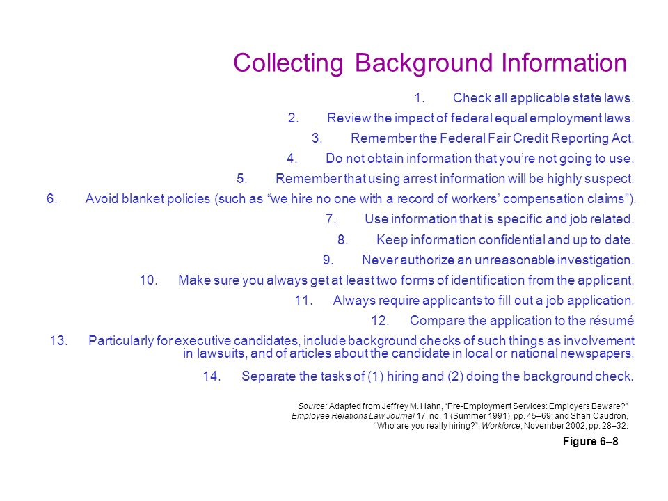 Background investigations and reference checks ppt video online collecting background information thecheapjerseys Choice Image