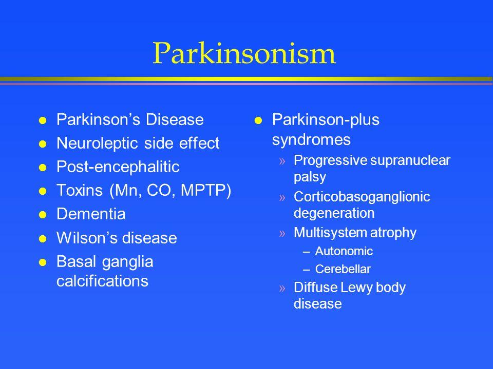 Sinemet Side Effects Parkinson Disease