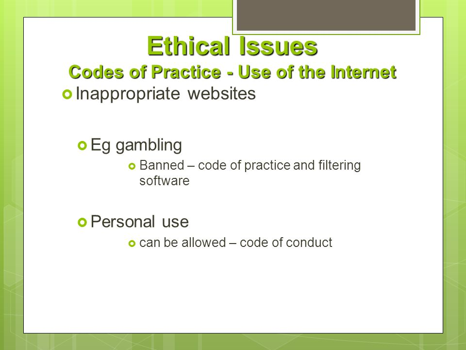 Ethical Problems of Gambling