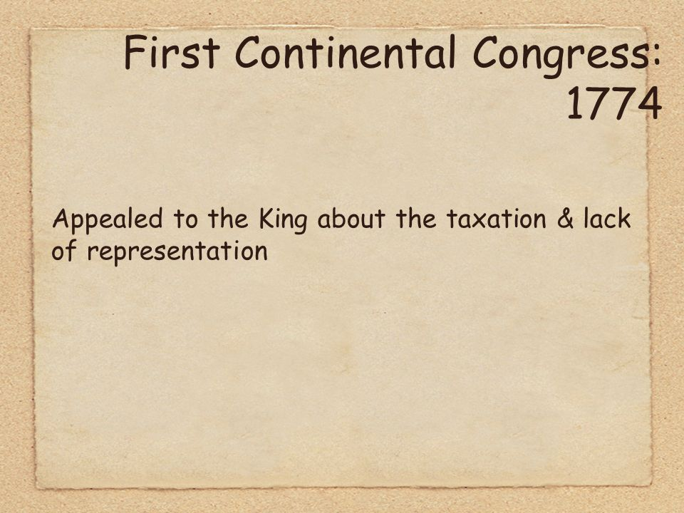 First Continental Congress convenes