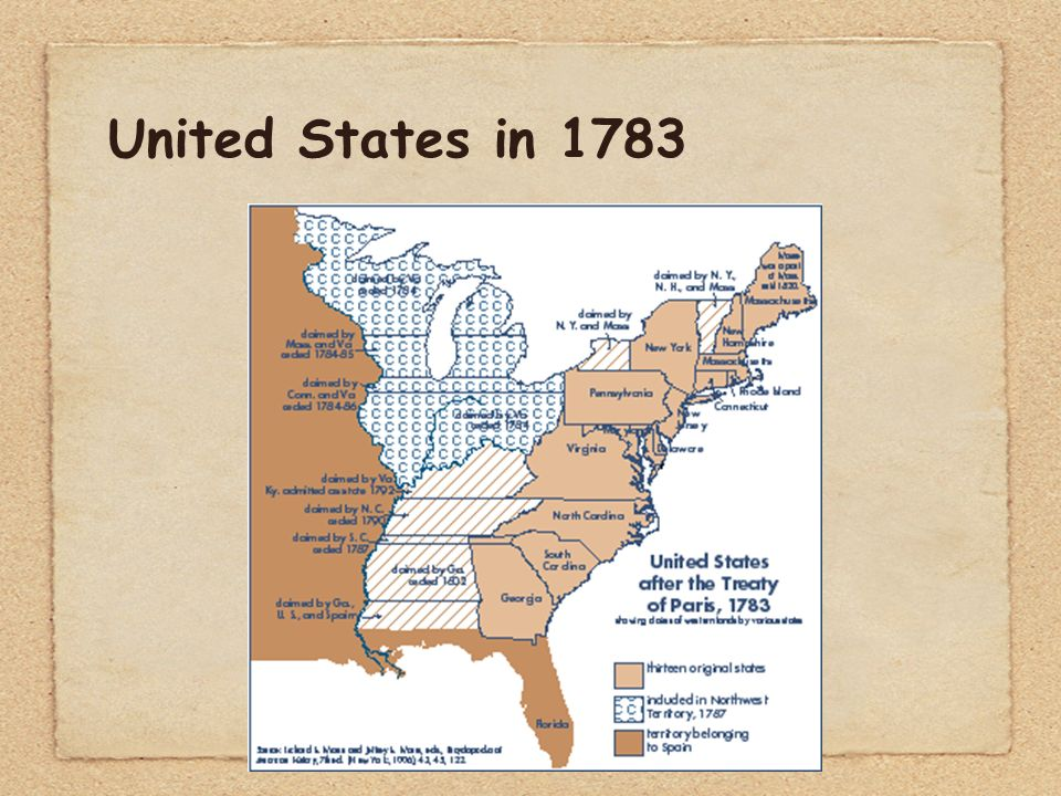 Map Of The Us After The Treaty Of Paris Globalinterco - Map of the us in 1783 treaty of paris