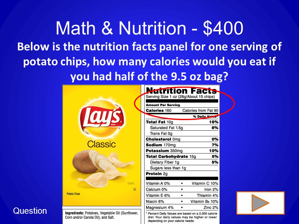 this is nutrition jeopardy ppt