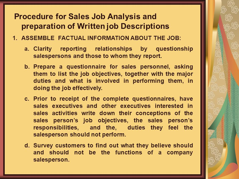 analysis of personnel selling In this section of our discussion of personal selling we look at the objectives of personal selling including how it is used to create awareness, provide information, stimulate demand and build brand.
