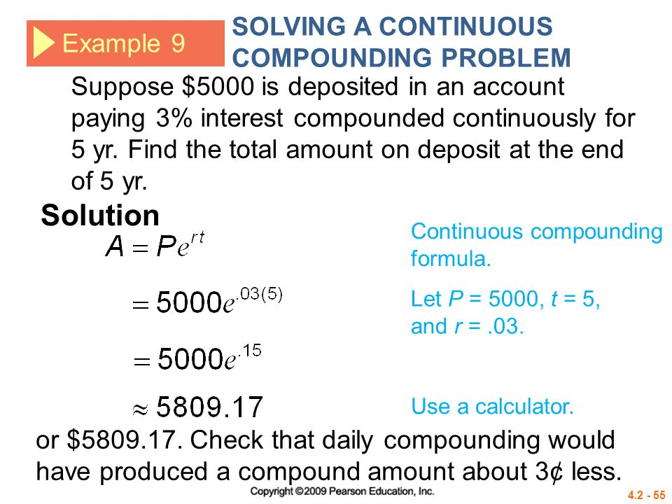 Solving Compound Interest Problems