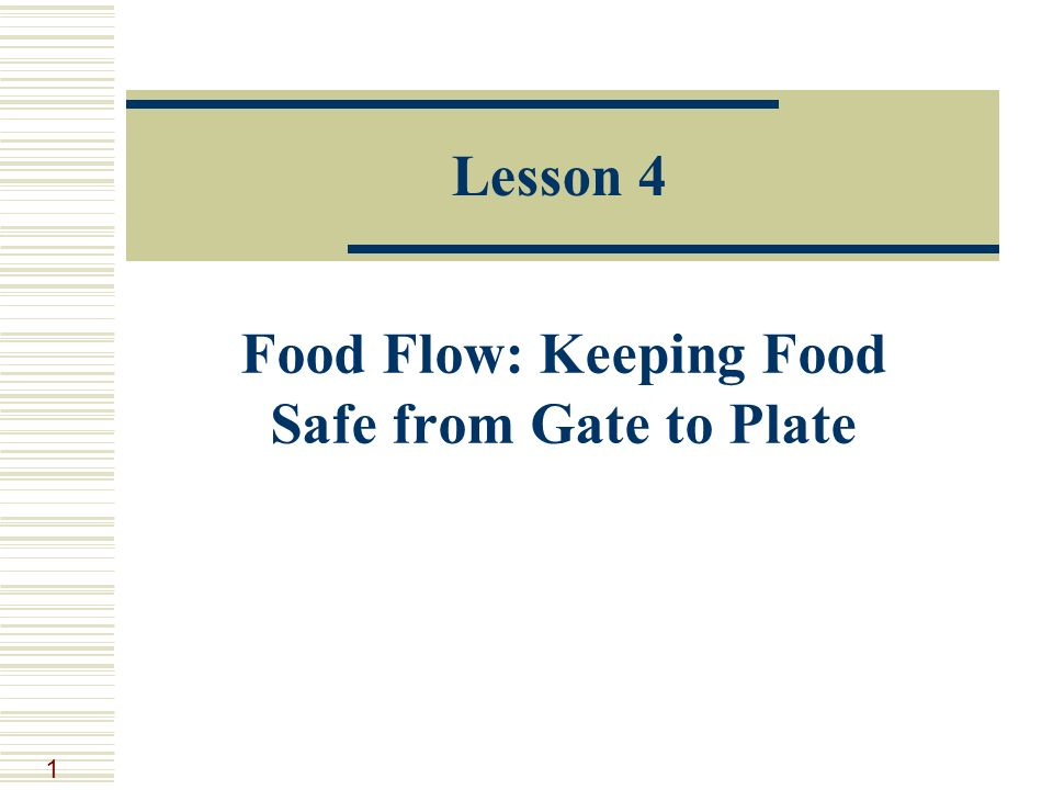 Food Flow: Keeping Food Safe from Gate to Plate