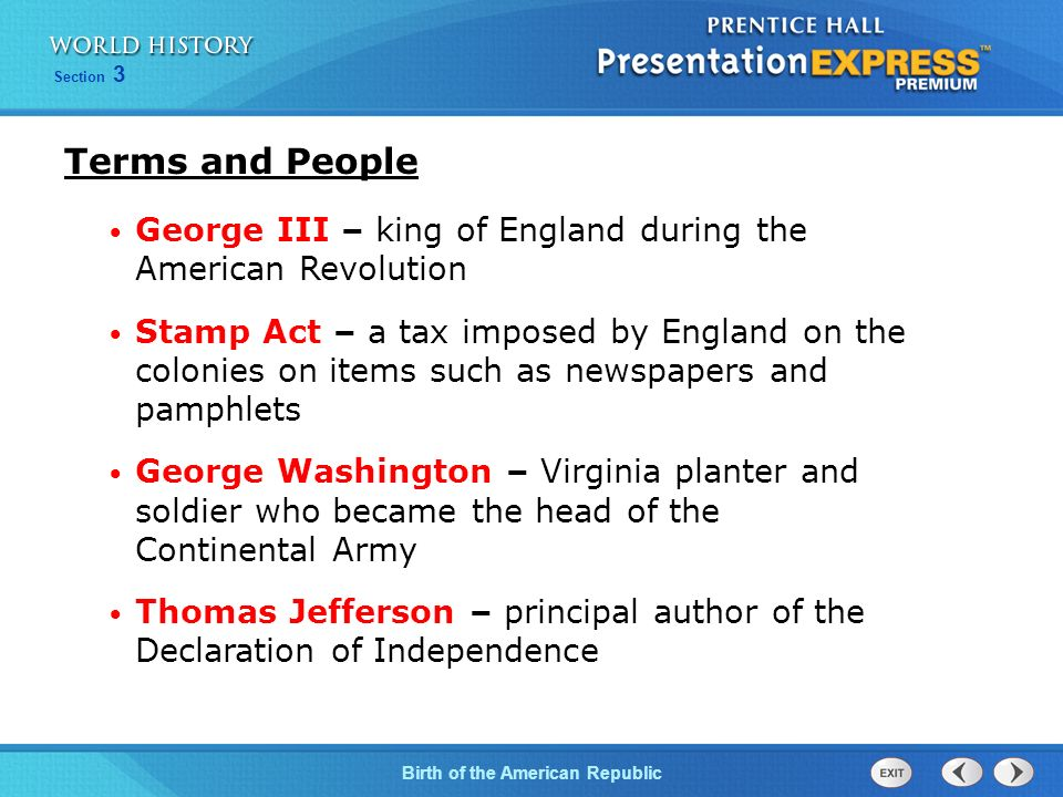 a description of the significance that lead to the american revolution There were many causes of the american revolution, some noble and some not so noble here's a look at all of them.