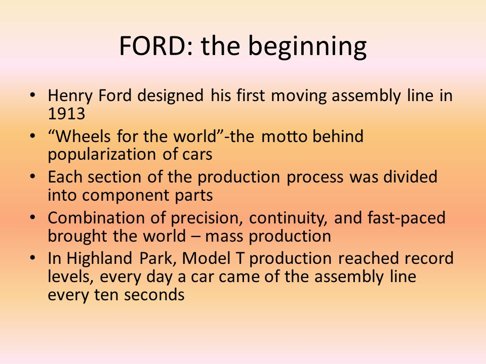an analysis of ford