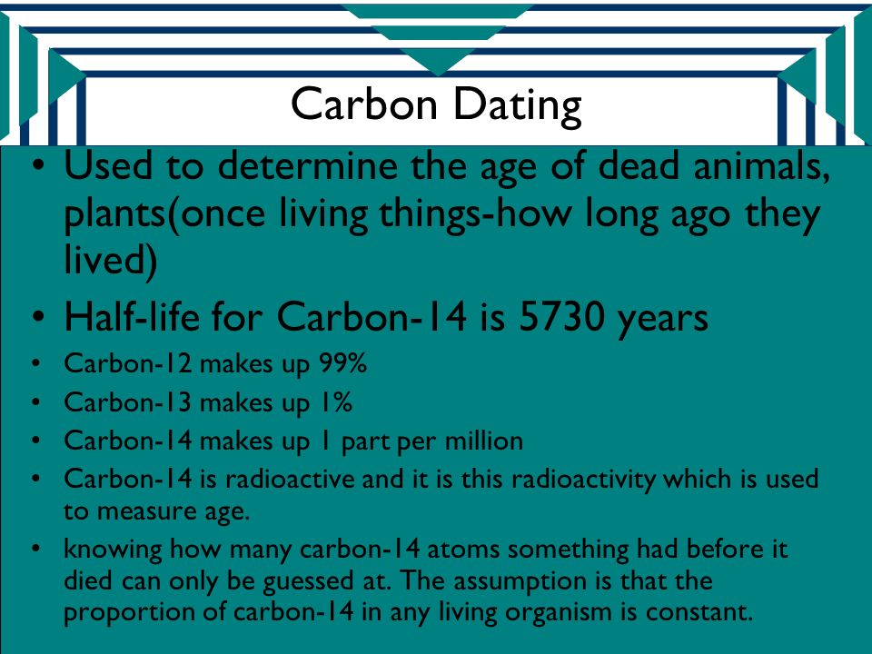 Living Determine Of Organisms Once Used Age Carbon Dating Is How The To