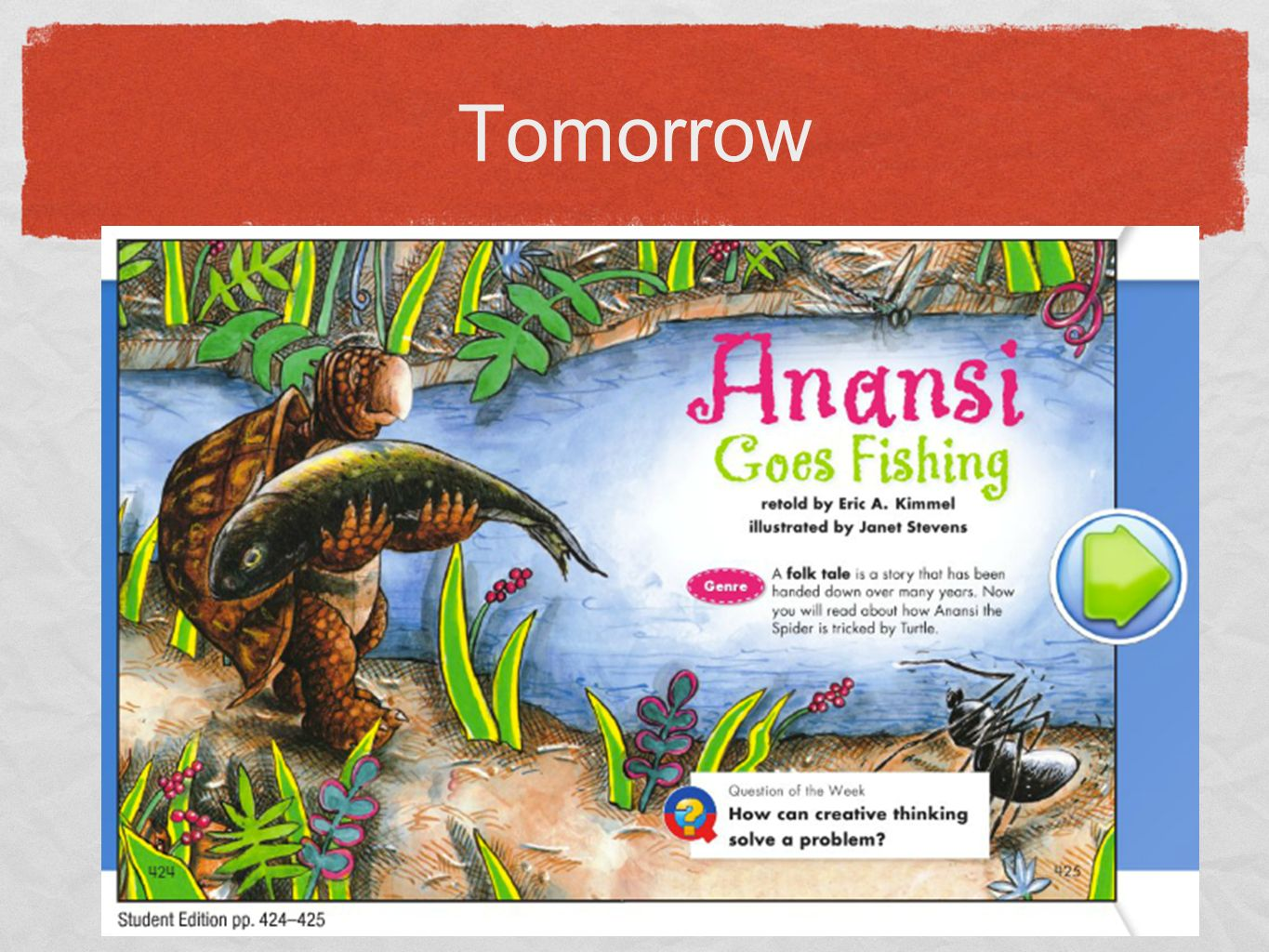 Day 2 anansi goes fishing ppt video online download for Anansi goes fishing