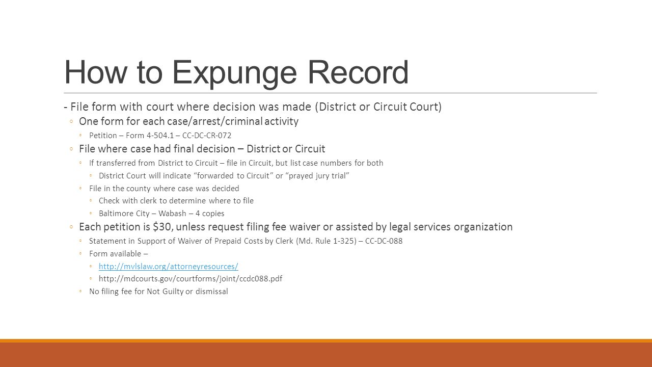 Expungement & Shielding Training - ppt video online download