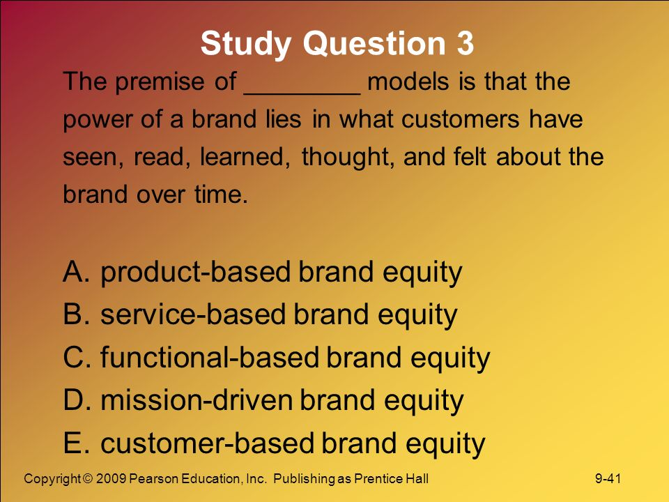 a research on brand equity Measuring brand equity is considered important because brands are  however,  from a marketing research perspective, brand equity is often.