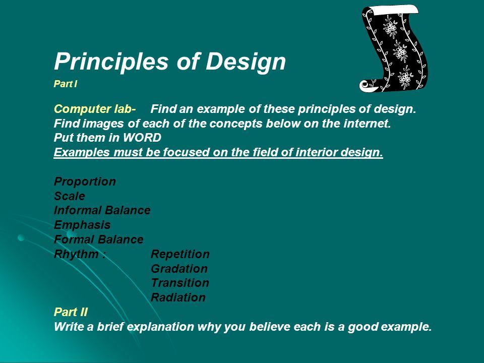 Principles Of Design DUE Part I