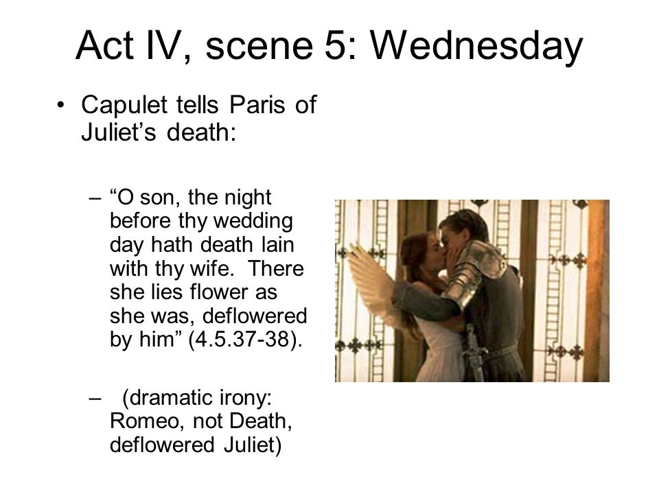act 3 scen 5 romeo and This lesson focuses on the deaths of romeo and juliet it includes some analysis of language, structure and an exploration of how shakespeare creates tension.