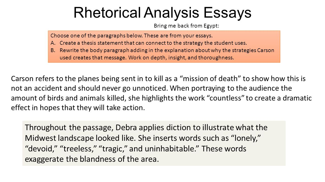 What is a Rhetorical Analysis Essay