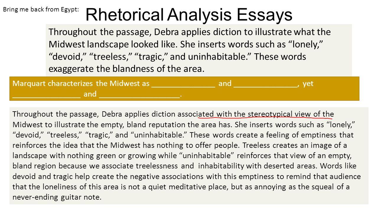 rhetorical analysis words