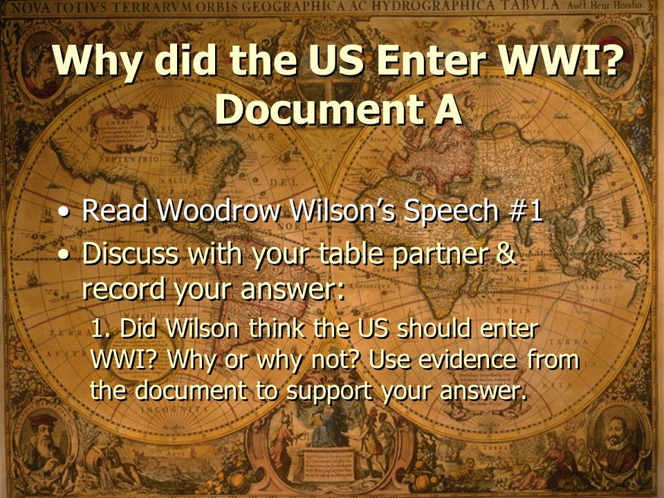 why did the us enter world Why did the us become involved in world war 2 the japanese attacked pearl harbour - a port in the united states of america - on the 7th december 1941.