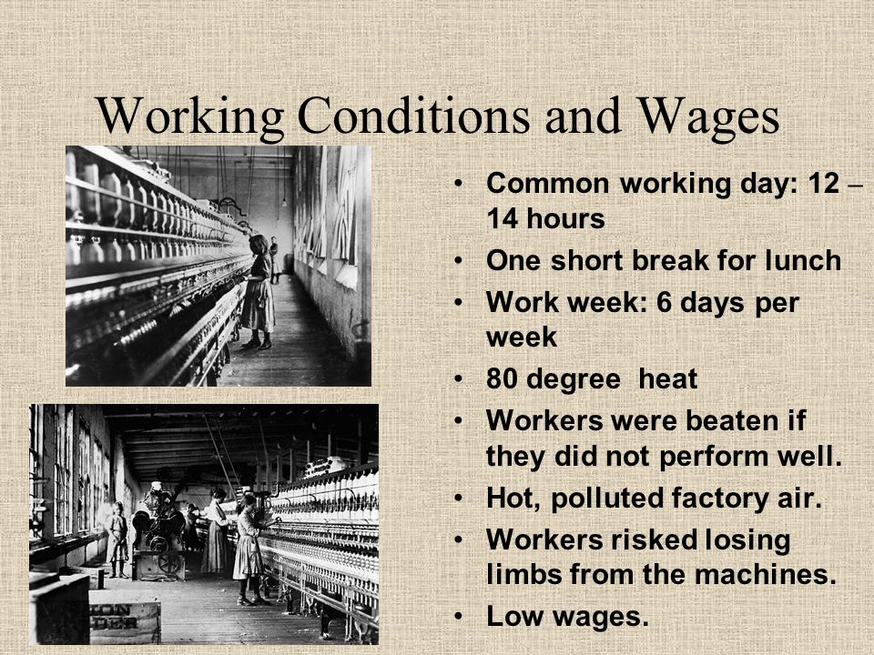 industrial revolution and average wages workers essay Start studying industrial revolution essay questions  living/working conditions of industrial workers: sudden expansion of cities=terrible conditions rich/middle.