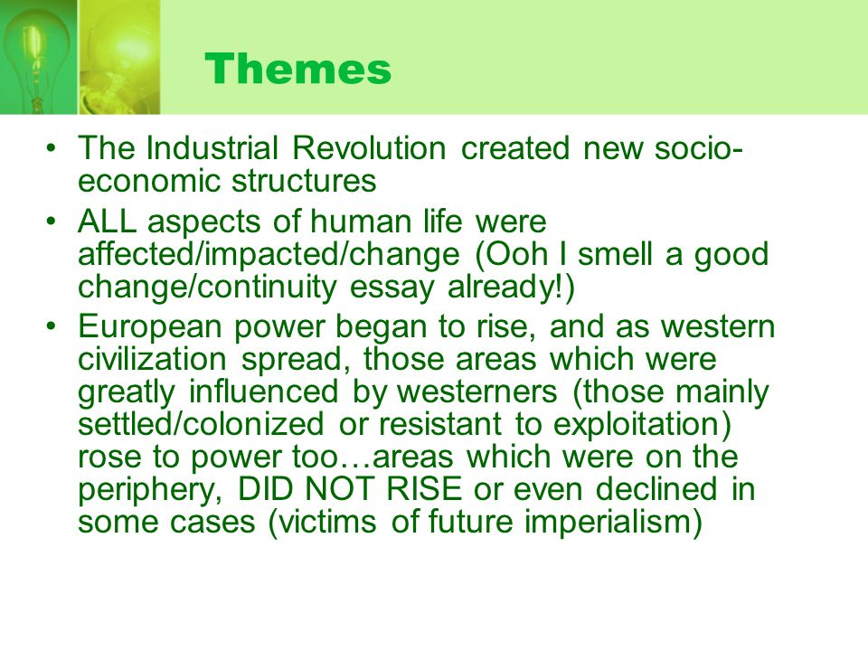 the emergence of industrial society ppt  themes the industrial revolution created new socio economic structures