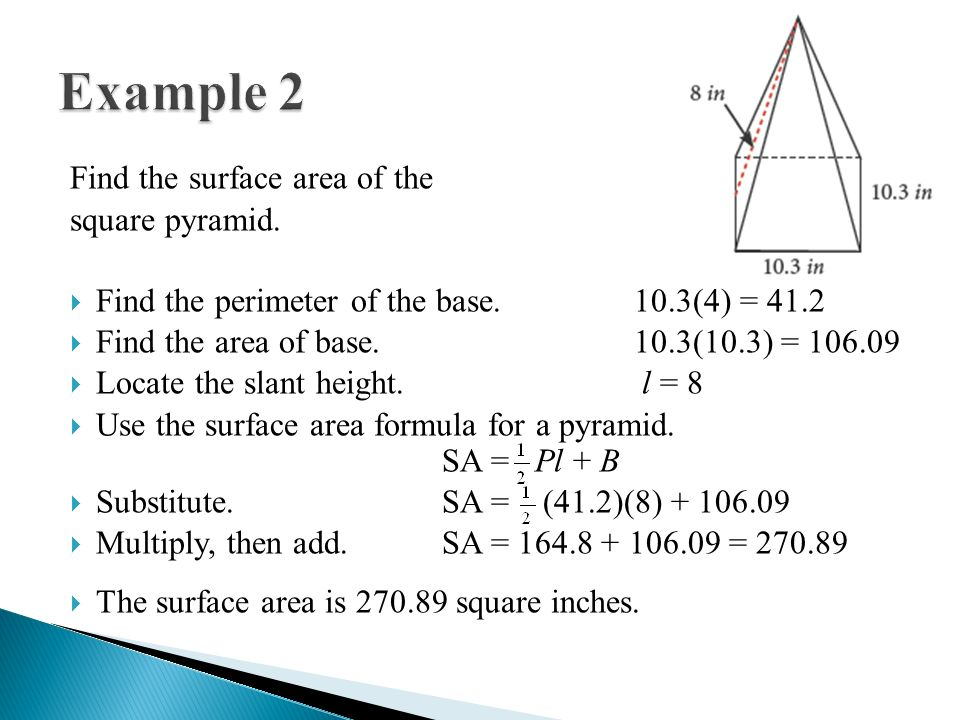 Surface Area Of Regular Pyramid The