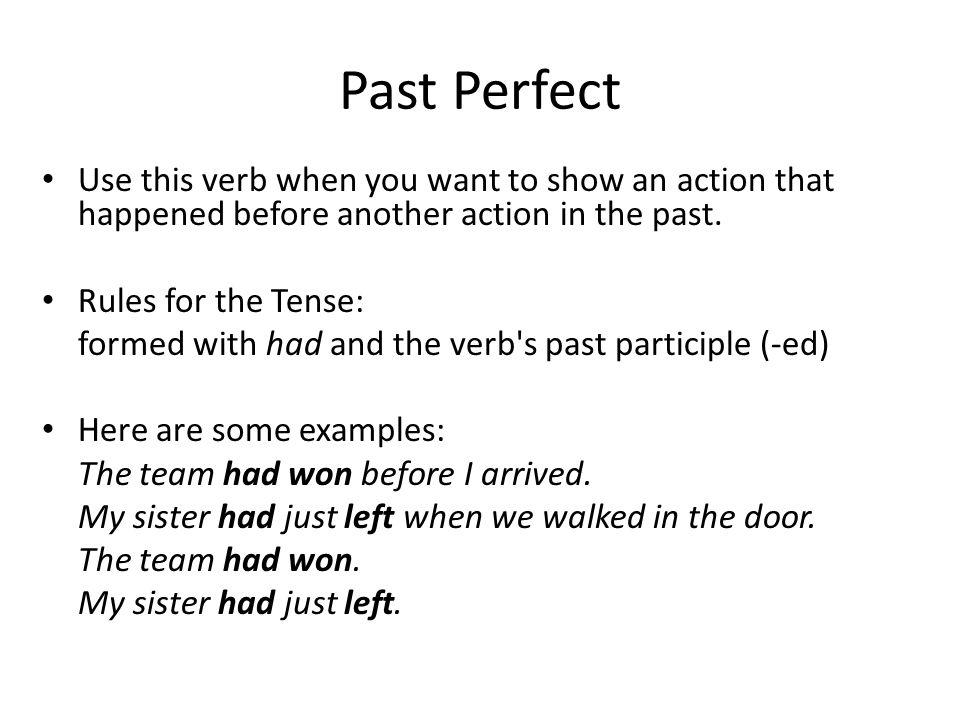 Examples Of Perfect Tense Sentences   CINEMAS 93