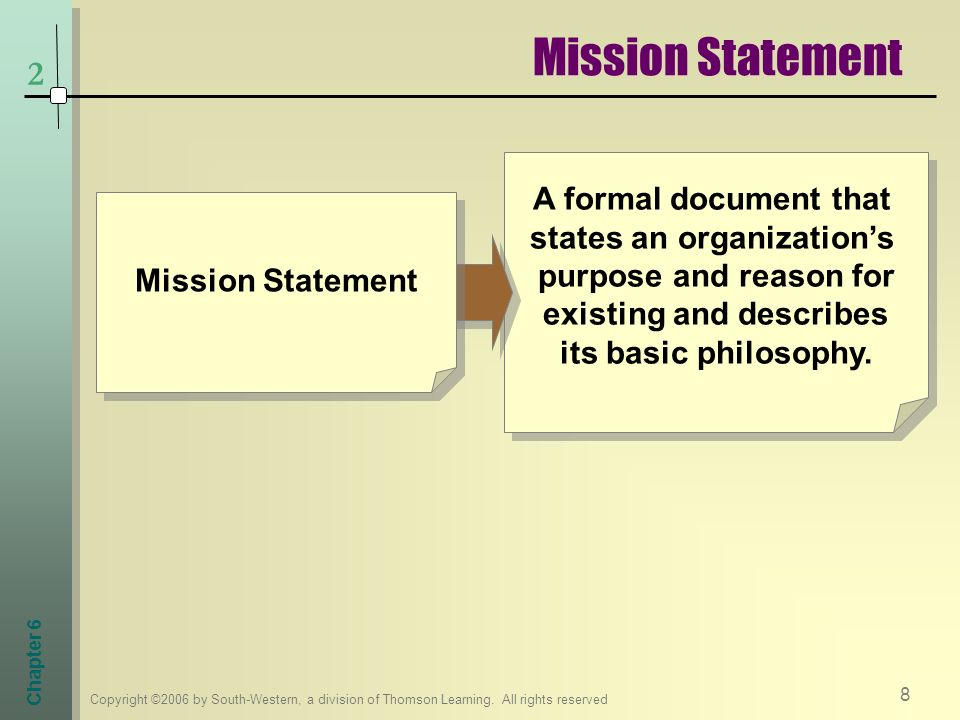 the fundamental purpose of an organization's mission statement is to