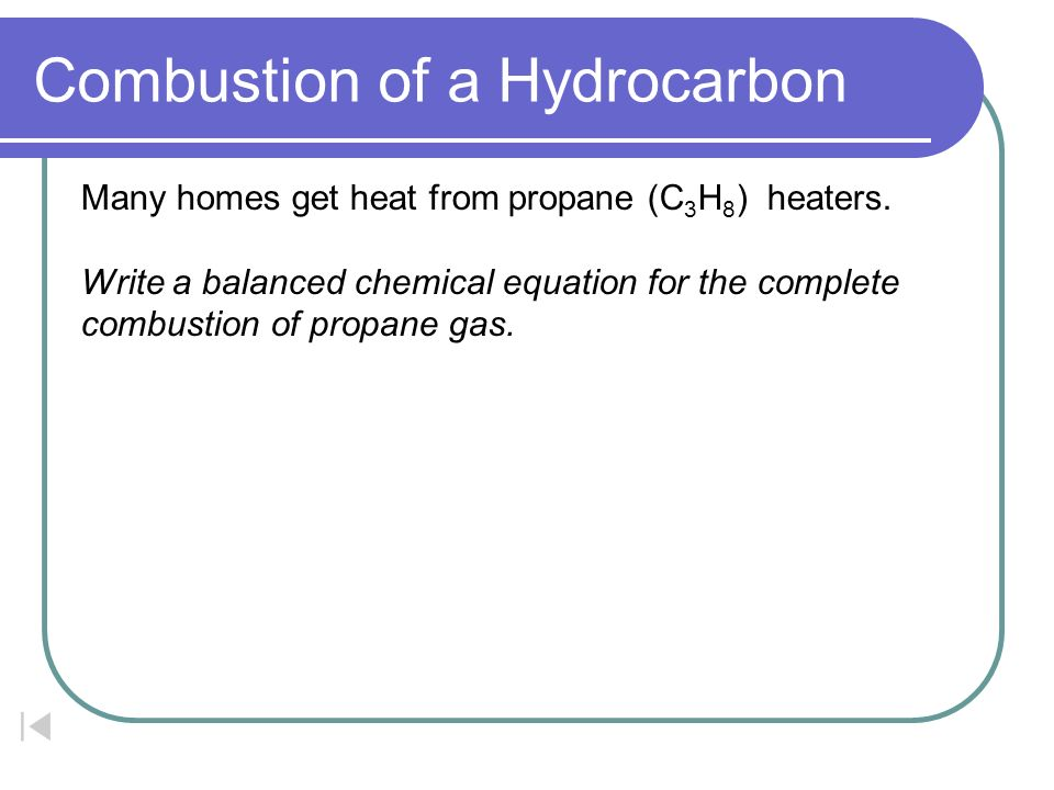 What Is a Chemical Equation for the Combustion of Hydrogen?