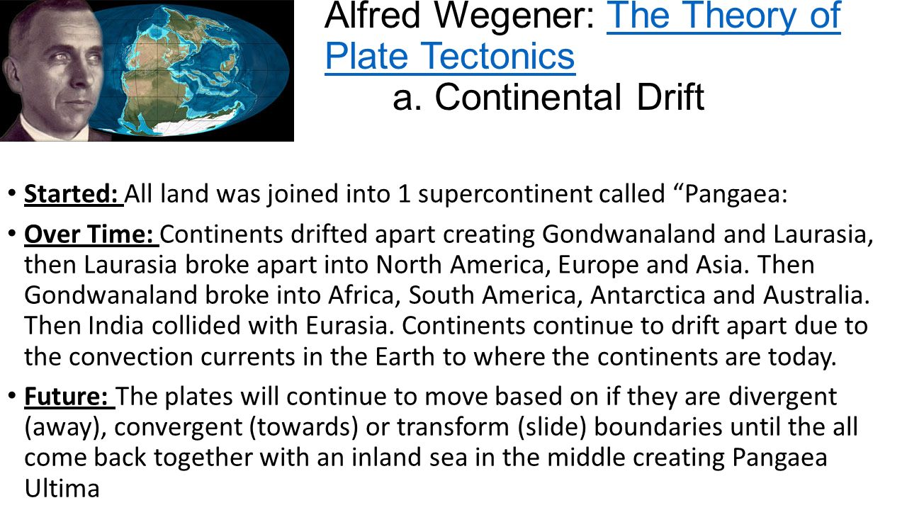 Evidence of the Continental Drift Essay