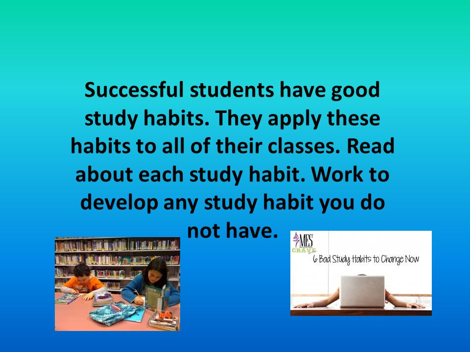 essays on studying habits Discover the study habits that can help you become a successful student there are 10 study habits that most successful students have in common.
