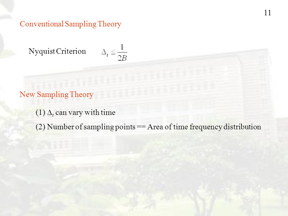 Conventional Sampling Theory