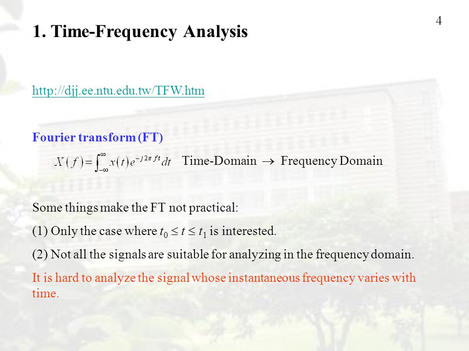 1. Time-Frequency Analysis