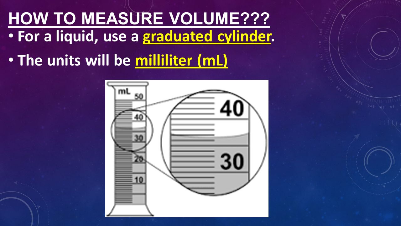 how to measure volume of a To calculate density of an object, you need to know the mass and volume of the object these problems show how to calculate density of a solid and liquid.
