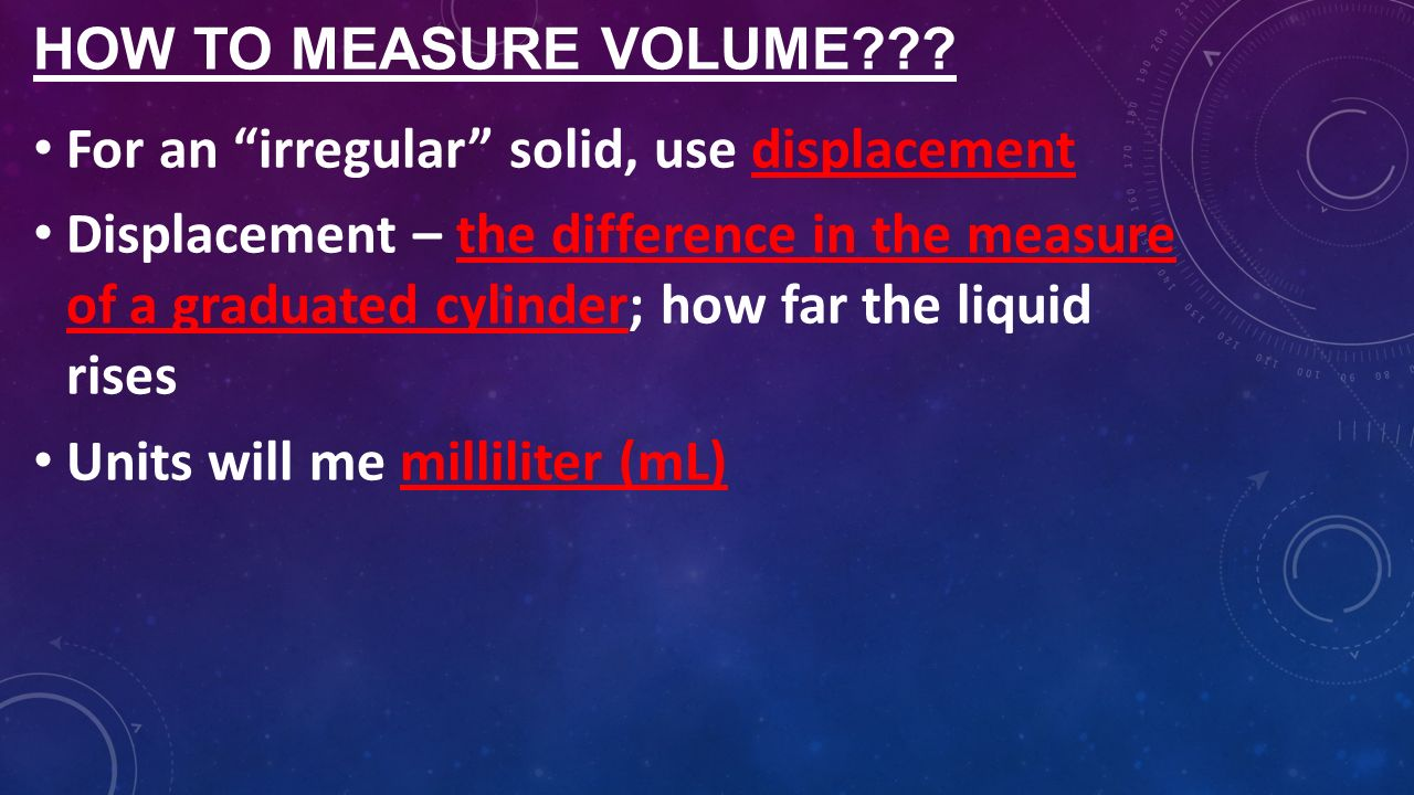 29 How To Measure Volume?