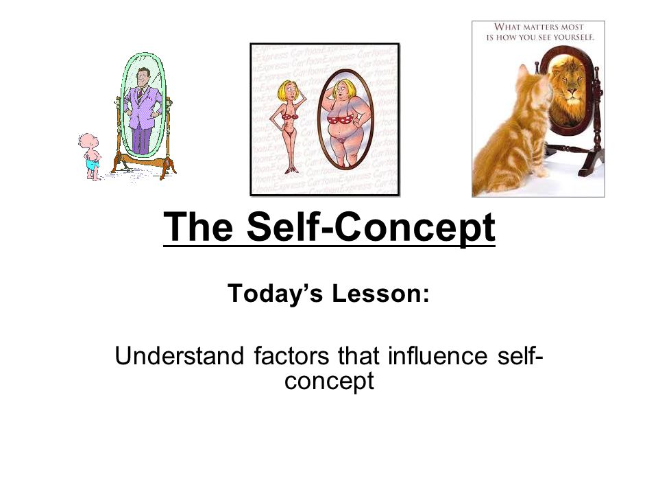 Today's Lesson: Understand factors that influence self- concept