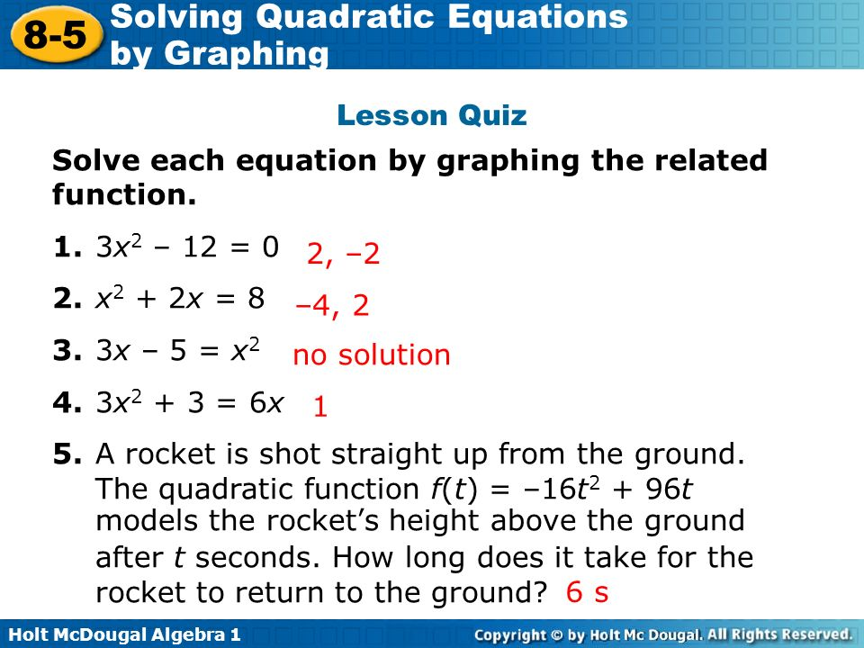 Solving Quadratic Problems