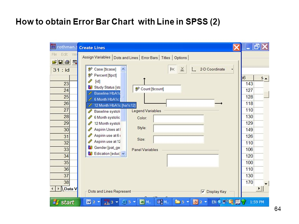how to add error bars in spss