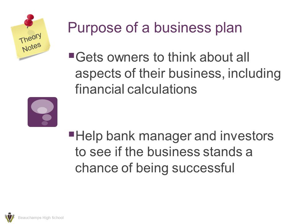 High school small business plan