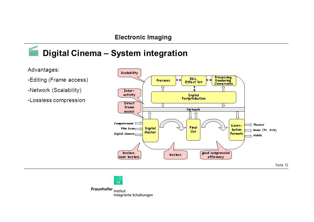  Digital Cinema – System integration