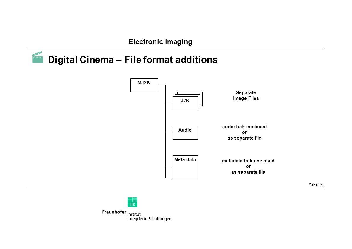  Digital Cinema – File format additions