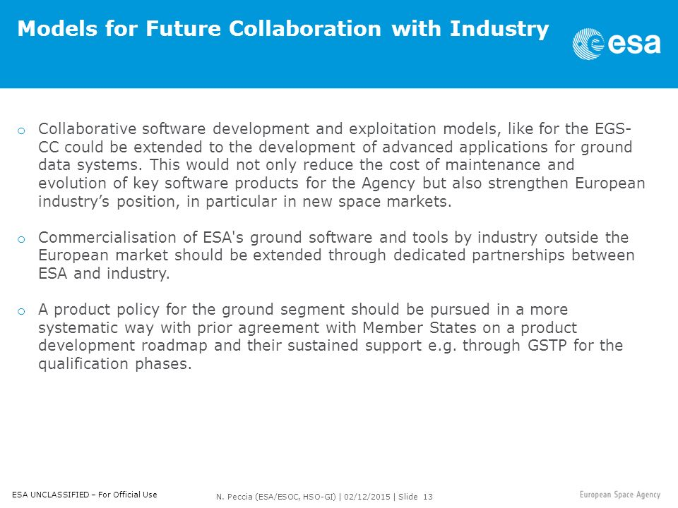 Esa / Esoc Software Development And Information Technology - Ppt