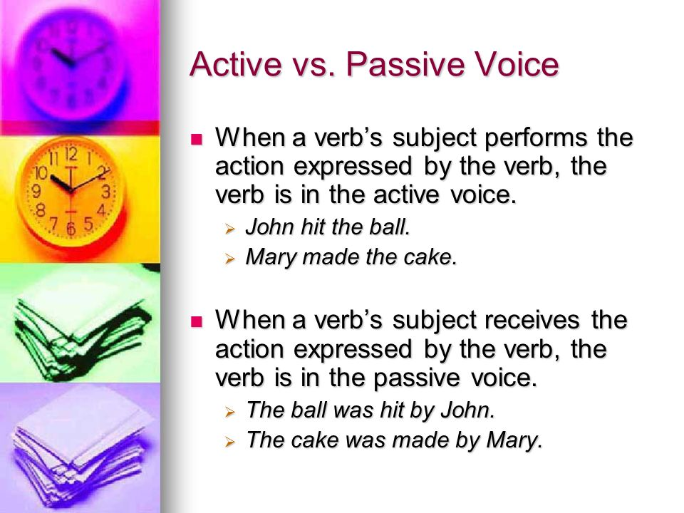 how to change passive voice to active voice writing