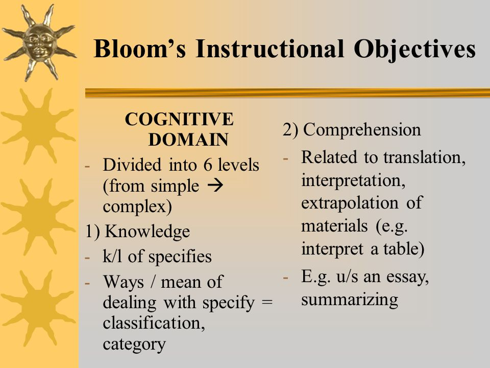 Using Bloom's Taxonomy to Write Effective Learning Objectives