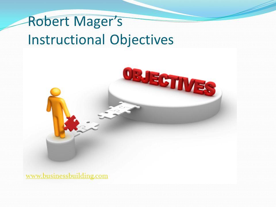 robert mager preparing instructional objectives pdf