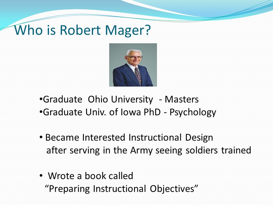Robert Mager's Instructional Objectives  Ppt Video Online. Herniated Disc Pain Treatment. Do Sprint Phones Have Sim Cards. Residential Treatment Programs For Teens. Towing Capacity Mazda Cx 9 Steel Hand Truck. Fema Home Study Courses Mba Loyola University. Income Of Nurse Practitioner. How Do I Become A Software Engineer. Lightroom Courses Online Ma Bankruptcy Lawyer