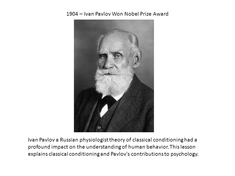 ivan pavlov classical conditioning theory pdf