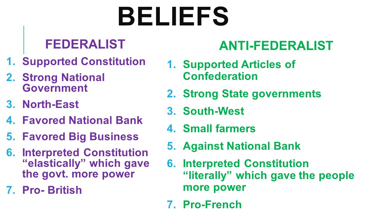 federalists and anti federalists the reasons for wanting an effective government over a responsive g One reason the national government provides grants is to _____ financially equalize rich and poor localities financially equalize rich and poor localities if there is a conflict between state and federal laws, federal law is supreme as stated in ________.