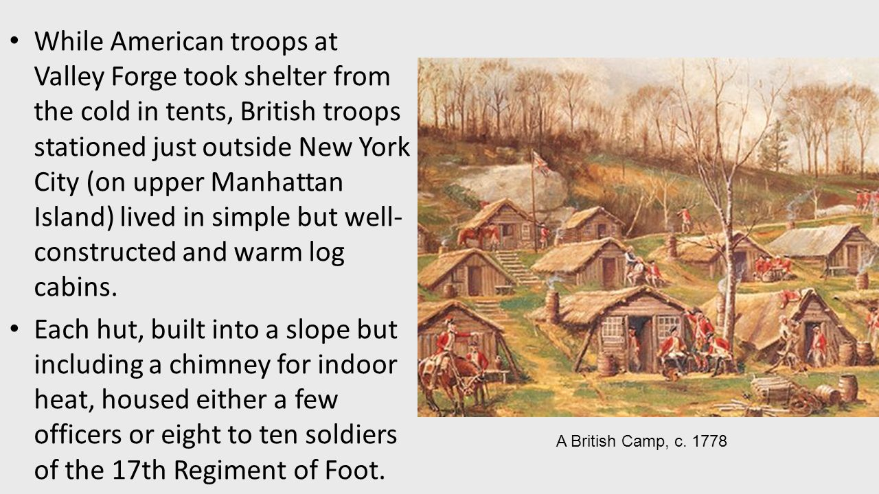 While American troops at Valley Forge took shelter from the cold in tents British troops  sc 1 st  SlidePlayer & Americau0027s History Seventh Edition - ppt download