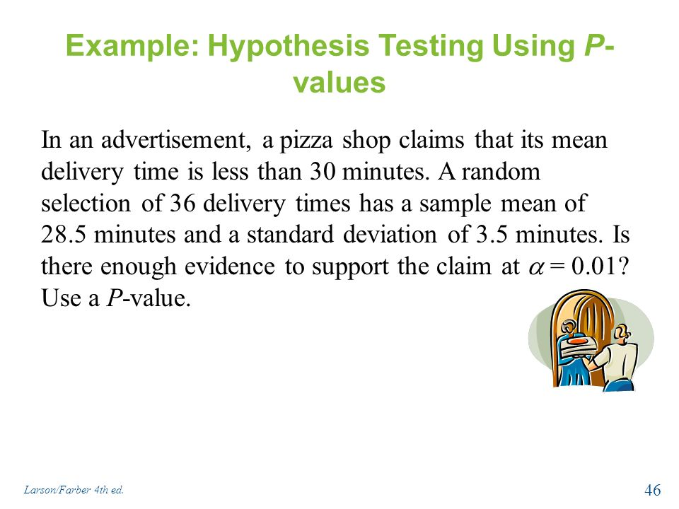 example of a test hypothesis for taste test