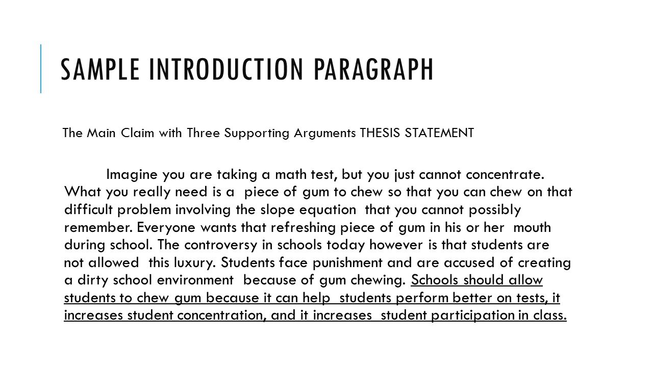 Argumentative essay on chewing gum